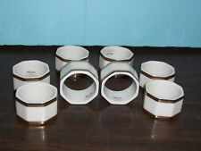 8 NORITAKE GOLD & PLATNIUM COLLECTION NAPKIN RINGS NEVER USED FREE U S SHIPPING