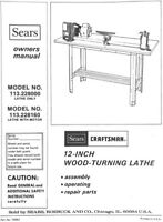 "Original Owners Manual Sears Craftsman 12"" Wood Lathe .pdf format"