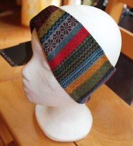 Invero Stirnband/ kleiner Schal, Tara Anthra, tolles Mustern; Merino, Neu!!