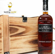 GESCHENKSET: Rum Sixty Six 12 Jahre alt aus Barbados mit Holzkiste 0,7l 40%