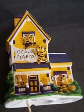 Vintage Lsu Togers College Treasure Lighted House by Slavic Treasures 2003
