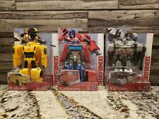 TRANSFORMERS  Lot of 3 NEW  Optimus Prime=Bumblebee= Megatron