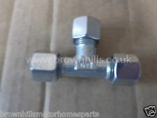 MOTORHOME CARAVAN MARINE GAS COMPRESSION STEEL T PIECE 10MM WITH OLIVES