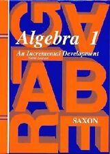Algebra 1 Math Textbook by John Saxon (2001, Other, Revised)