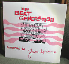THE BEAT GENERATION ACCORDING TO JACK KEROUAC 4 LP BOX SET COMPLETE WORK SEALED!