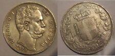 Umberto 1 scudo da 5 lire 1879 argento