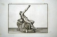 Gravur Silene Faun Rückseite fin18è déb19è Mythologie Thomas Piroli Herculaneum