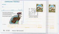1996 REPUBBLICA IPZS 2 CARTOLINE POSTALI 50° SCUOLA DELLE TRASMISSIONI B/9313