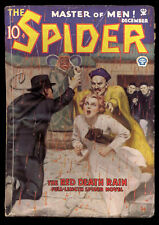 Spider 12/1934 vol. 4 # 3 (Red Death Rain) G-VG (pulp)