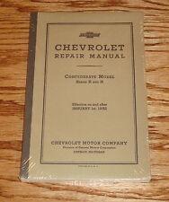 1932 Chevrolet Confederate Series B and N Car Truck Repair Shop Manual Chevy 32