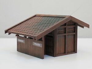RhB Abtritt, Toilettenhaus Bausatz M 1:22,5, wetterfestes Teakholz