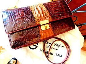 TOP QUALITY Genuine Vintage Italian Made Crocodile Skin Bag AS NEW ORIGINAL BAG