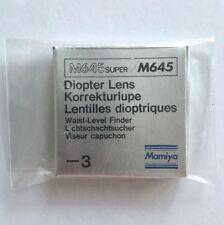 MAMIYA M645 / M645 Super -3 Diopter lens for Waist level finder Korrekturlupe
