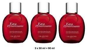 Clarins Eau Dynamisante Treatment Fragrance Set - New - 3 x 30ml