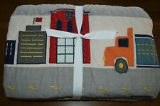 Pottery Barn Pb Kids Things That Go Twin Quilt Truck Car Road Transportation