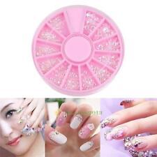 3D Tips Nail Art Rhinestones Glitter Diamond Gems DIY Decoration Manicure Wheel