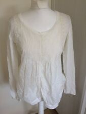 Odd Molly White Broderie Anglaise Cotton Top Size 1