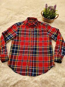 Polo Ralph Lauren Kids Boys Size  8 Long Sleeve Plaid Soft Button Down Shirt