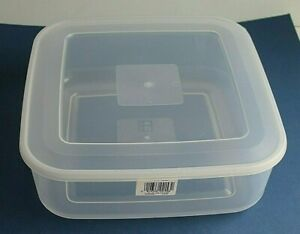 Large 7L Square Cake Biscuit Food Storage container 31 x 31 x 11 cm