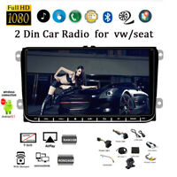 9''2 Din GPS Android Car Radio for VW/Seat +CAM BT Wifi Touch FM iOS Mirror Link