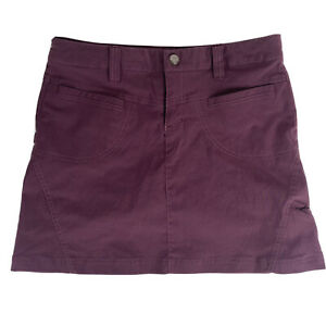 Athleta Purple Burgundy Dipper Skort Mesh Outdoor Skirt Shorts Stretch Size 2
