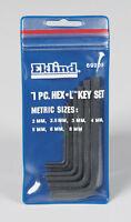 Eklind Tool  2-8mm  Metric  Short Arm  Hex L-Key Set  Multi-Size in. 7 pc.