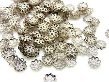 200 Pcs -  Antique Silver Coloured 7mm Bead Caps Jewellery Findings H185