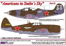 AML Models Decals 1/32 AMERICANS IN STALIN'S SKY P-40 & P-47 Part 2