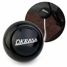 Fast Okrasa Black Gear Shift Knob M12 & M7 VW Bus Beetle Ghia Thing Split Oval