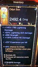 Diablo 3 ANCIENT ODYN SON rare lightning mace LEGENDARY ITEM lvl 70 XBOX ONE