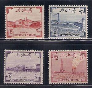 Pakistan   1955   Sc # 73A-76(4val.)   VLH   OG   (53743)