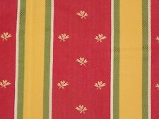 Gorgeous Red Yellow Green Woven Upholstery Drapery Fabric 1 Yard