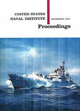USNI PROCEEDINGS NOV 62 USN DESTROYERS_NATO SOUTH_RAN FAA_USS BAINBRIDGE DLG(N)-