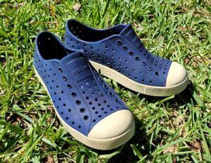 NATIVE JEFFERSON Navy /Bone Slip On Shoes Youth Size 1 Narrow
