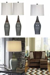 Ashley Furniture Signature Design - Niobe Ceramic Table 2, Multicolored/Gray