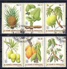 Flore - Fruits St Thomas et prince (103) série complète de 6 timbres oblitérés