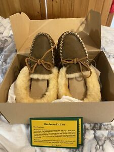 LL BEAN Wicked Good Moccasin Slippers NWT Size 9, Rustic Brown, Women New in Box