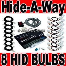160W 8 HID Bulb Car Truck Hide-A-Way Hazard Warning Strobe Light System Kit C10