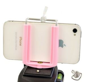 Universal Cell Phone Holder Tripod Mount Adapter Smartphone Stand iPhone Samsung
