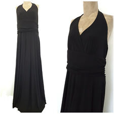 Halter Top Maxi Dress Size 16 Plus Black Cruise Cocktail Party Formal Evening