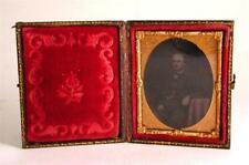 Ambrotype 1/9 plate Victorian Gentleman Hand Tinted