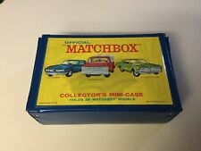 ViINTAGE MATCHBOX LESNEY LOT OF 22 CARS IN COLLECTOR'S CASE NICE COLLECTION