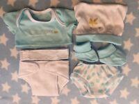 BERENGUER LA NEWBORN DOLLS CLOTHES LAYETTE 12-14 INCH BLUE BABY BOY DOLL REBORN