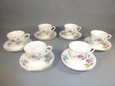 Set de 6 tazas y menores tazas de porcelana china BOLSA french antiguo