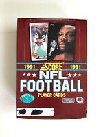 1991 SCORE FOOTBALL SERIES I WAX PACK BOX