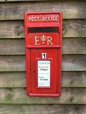 British ER II Royal Mail Cast Iron Post Box Front Post Office Box Fascia