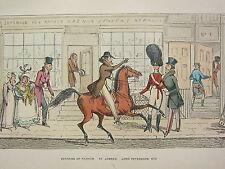 1892 Hand Farbiger Druck ~ Votaries Of Mode St.JAMES Lord Petersham