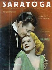 SARATOGA - Cinema illustrazione N°36/DIC/1937- JEAN HARLOW-CLARK GABLE-BARRYMORE