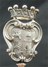 6 beaux et rares hatelets/brochettes, argent italien, A.Giacche, Milan armoiries