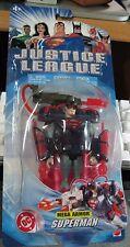 JLU Justice League MEGA ARMOR SUPERMAN action figure moc DC Mattel 2003 blue